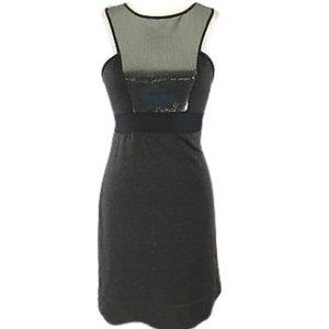 Chelsea & Violet Gray Sequin Knit Sleeveless Dress